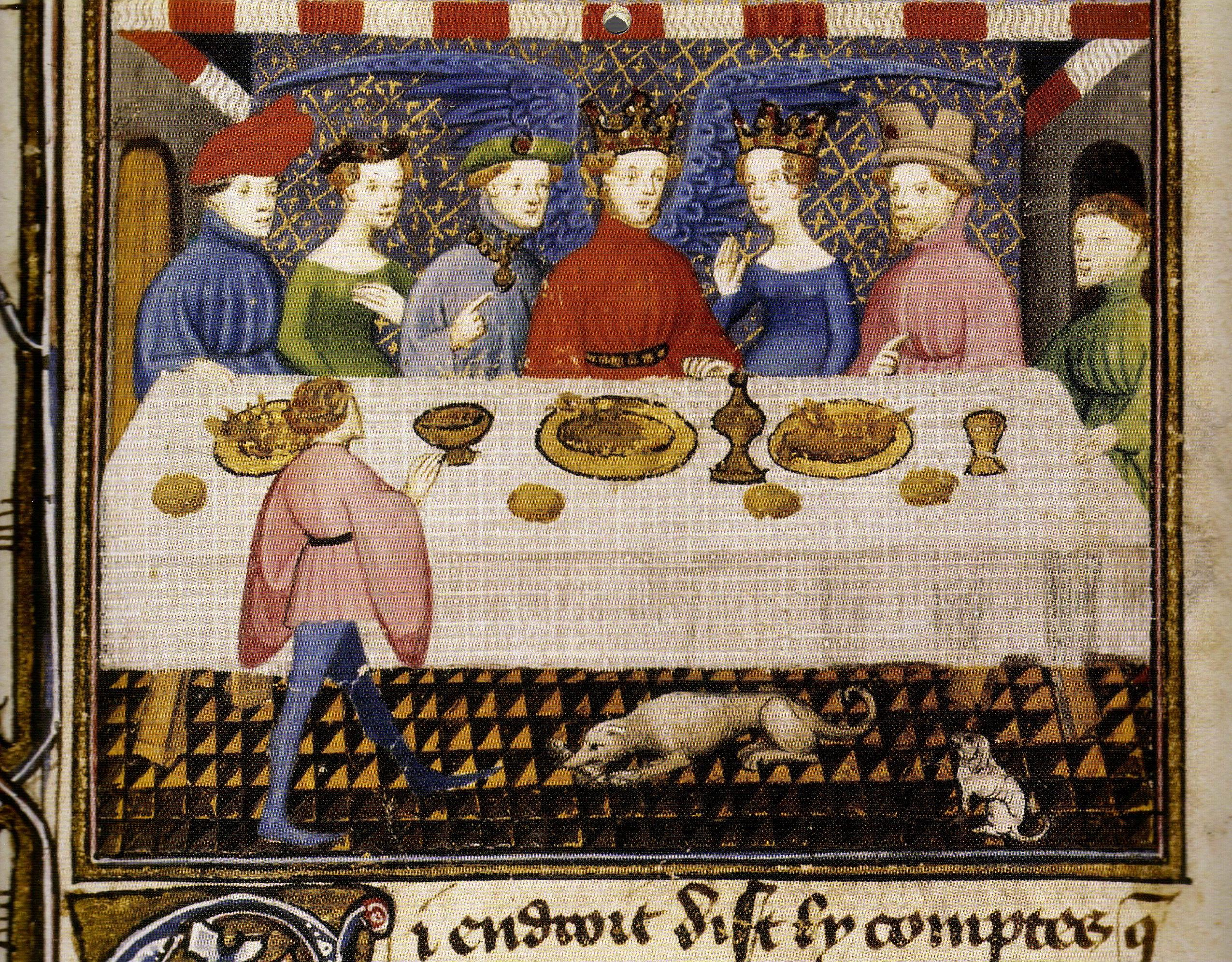 Banchetto alla corte di Dieu d'Amour, dopo la seconda battaglia