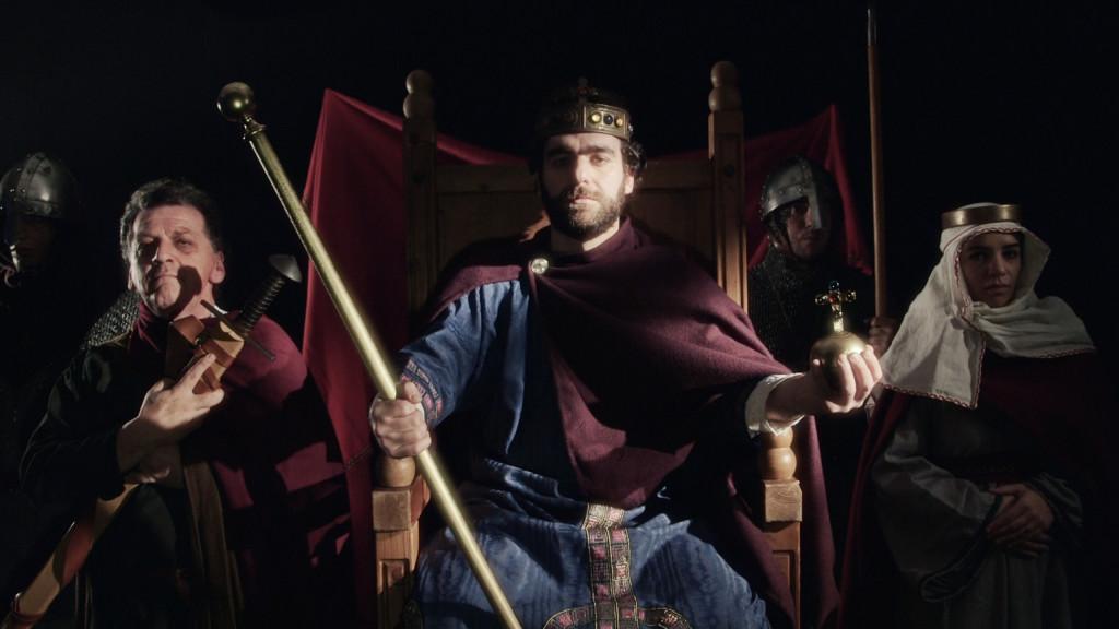 L'Imperatore Enrico II, interpretato da Pietro Bertoldo