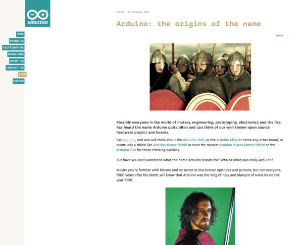 """La pagina del sito di Arduino® dedicata al documentario """"Re Arduino - Sans Despartir"""""""